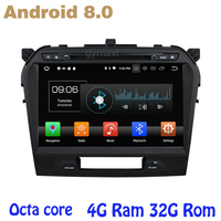 Android 8.0 car dvd gps for Suzuki vitara 2015 2017 with Octa core PX5 4G RAM 32G ROM wifi 4g usb auto Multimedia