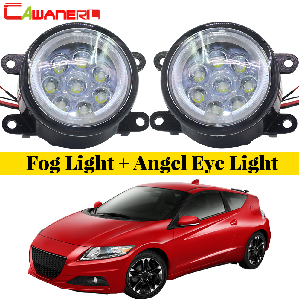 Cawanerl For 2013 2014 2015 Honda CR-Z CRZ Car LED Lamp Fog Light Angel Eye DRL Daytime Running Light 12V High Bright 1 Pair mini penlight 3000lm waterproof led flashlight torch 3 modes zoomable adjustable lantern portable light use aa or 14500