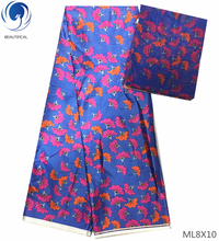 BEAUTIFICAL 2019 nigerian satin wax fabric african print Chiffon fabrics printed for party dress ML8X09-14