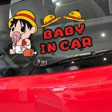 Автомобильные чехлы для автомобиля-Стайлинг мультфильм одна штука Луффи ребенок в машине наклейки для автомобиля Наклейка для Ford Toyota Chevrolet, VW Honda Mazda Opel Lada