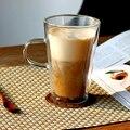 Стеклянная чашка с двойными стенками 400 мл  прозрачная  стойкая  ручная работа  чайная кружка  кофейная  Молочный Сок  здоровый напиток  двухс...