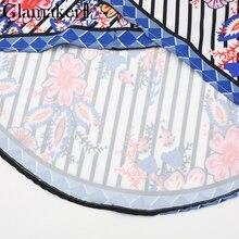 Boho split flower print women skirt