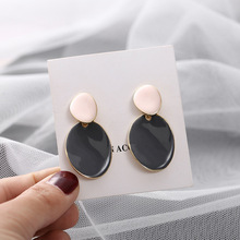 New design creative jewelry high-grade elegant earrings round Gold and silver wedding party for woman