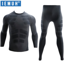 IEMUH New Winter Thermal Underwear Sets Men Brand Quick Dry Anti-microbial Stretch Men's Thermo Underwear Male Warm Long Johns(China)
