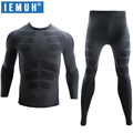 IEMUH New Winter Thermal Underwear Sets Men Brand Quick Dry Anti-microbial Stretch Men's Thermo Underwear Male Warm Long Johns