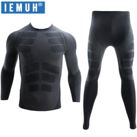 IEMUH New Winter Thermal Underwear Sets Men Brand Quick Dry Anti microbial Stretch Men's Thermo Underwear Male Warm Long Johns