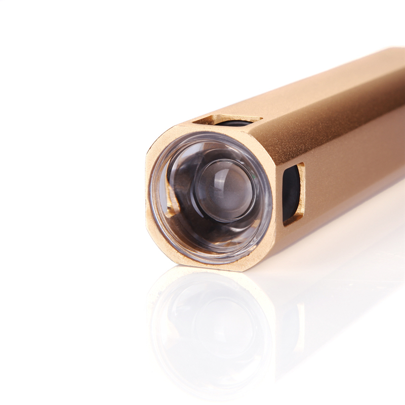 Sanyi Gold 2 in 1 Function LED Flashlight Power Bank 4 mode lighting Torch with USB Cable with USB Cable and Bag flashlight 4 in 1 multifunction bluetooth v2 1 speaker handsfree calls led flashlight power bank black