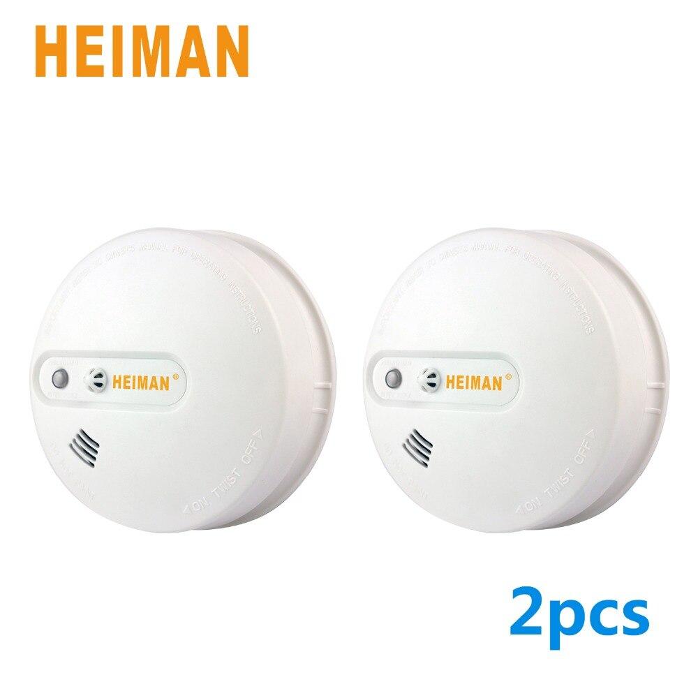 HEIMAN Heat Sensro Alarm Battery Powered,Independent Stove Alarm Heat Sensor Twin Packe-620DHS