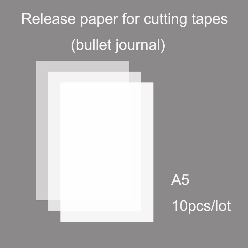 TUNACOCO 10 Pcs Release Paper For DIY Washi Tapes  A5 Stickers Decor Tapes  Qt1710004