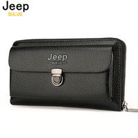 JEEP BULUO Men Wallets 2017 New Casual Wallet Men Purse Clutch Bag Brand Leather Wallet Long