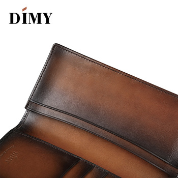 Wallet Vintage Style Business Card Genuine Leather Handmade Wallets Long Large Wallet Male Purses Handbag Gifts
