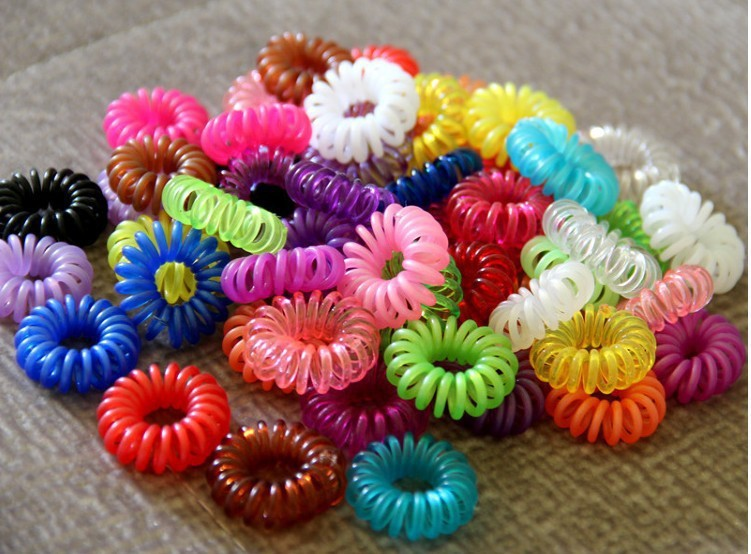 100pcs/Lot Candy Color Telephone Cord Headband Girls Hair Ties Head band Hair Strap Hair Bands L006