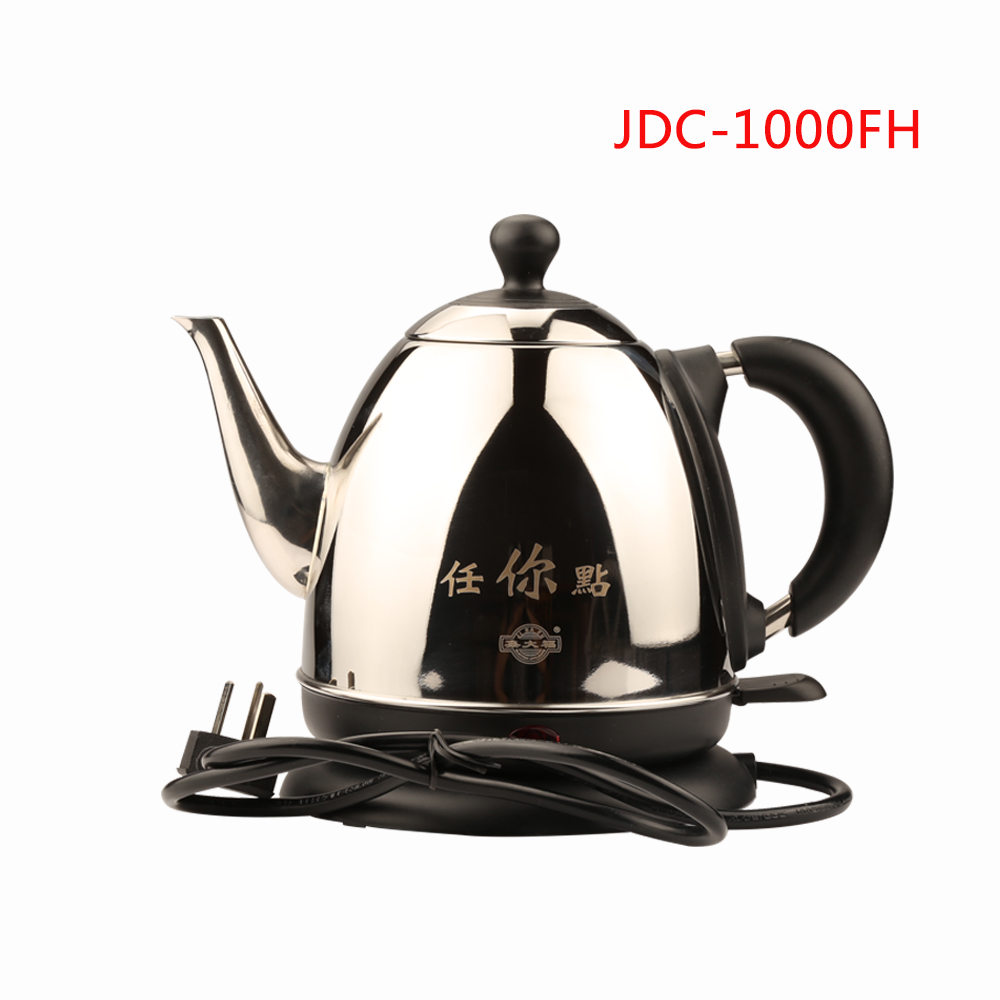 JDC-1000FH Household 1.0L Stainless Steel Electric Water Kettle With Safety Auto-off Function Quick Electric Boiling Pot