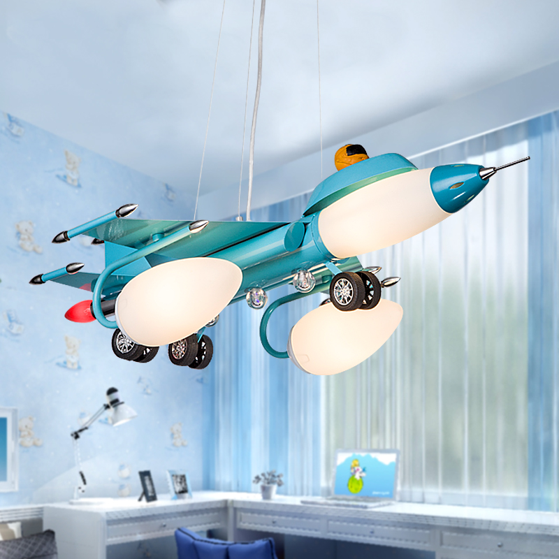 LED Children bedroom lamp led lamp boy or girl study plane light children room light lamps and lanterns is cute 110-240v