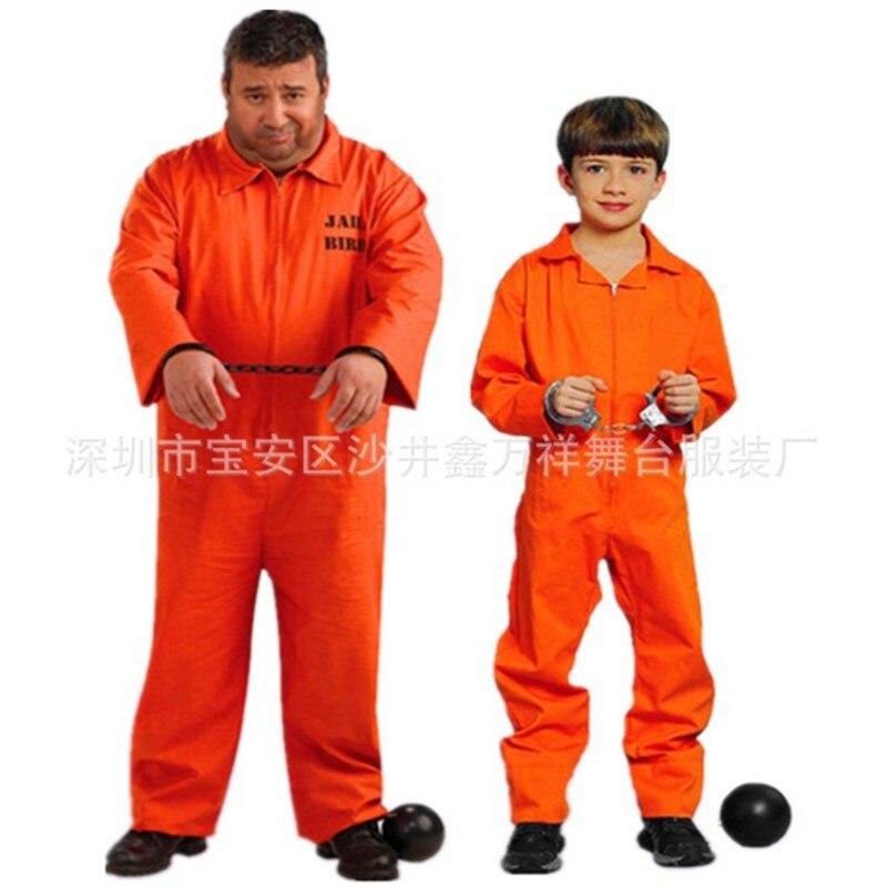 2018 neue Mens Gefangene Cosplay Kostüm Convict Criminal Zombie ...
