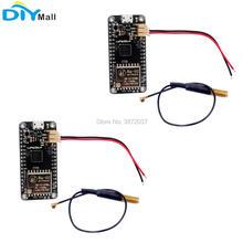 2pcs/lot 433MHz LoRa32u4 Development Board Ra02 LoRa WiFi Transceiver Module Atmega328 SX1278 + LoRa Antenna + JST PH2.0mm Cable недорого