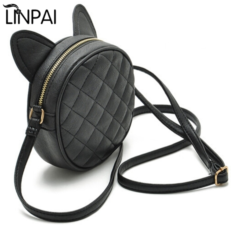 Dropshipping Women Bag Fashion Messenger Bags Cat Ear Female Crossbody Shou..
