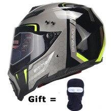 BYE New Motorcycle Helmet Men Full Face Moto Riding Motorbike DOT Certification ABS Material Adventure Motocross