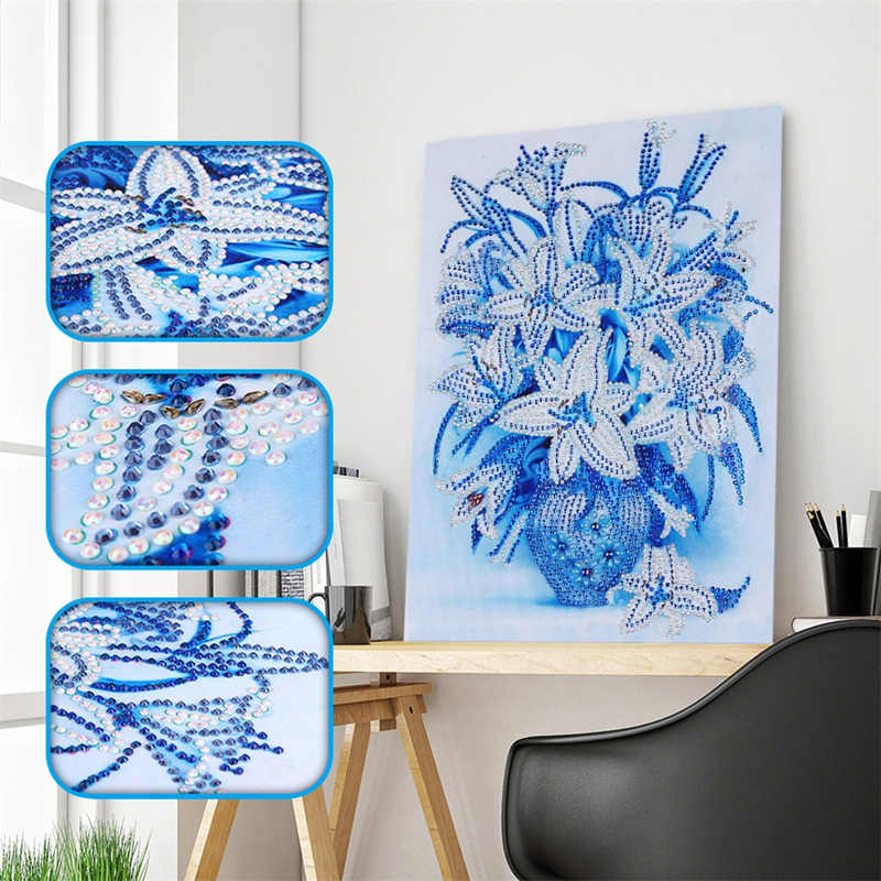 DIY Special Shaped Diamond Painting Flower Trees Pattern Partial Drill Cross Stitch 5D Butterfly Bird Diamond Embroidery Gifts