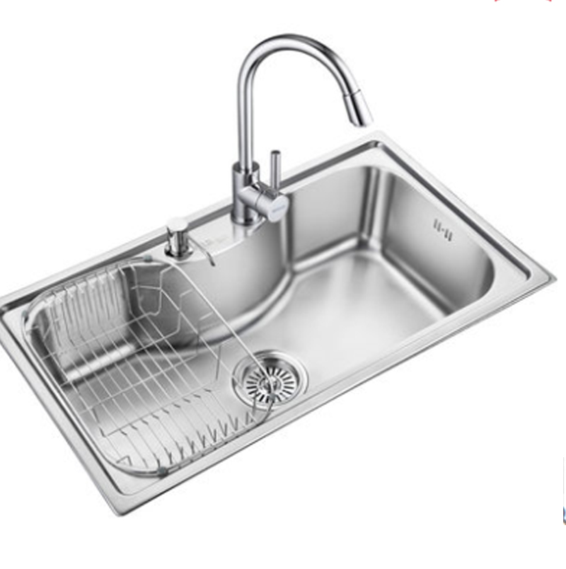 Kitchen Sinks Stainless Steel Vegetables Basin 304 Sink Slot Bundle Single Wash In From Home Improvement On