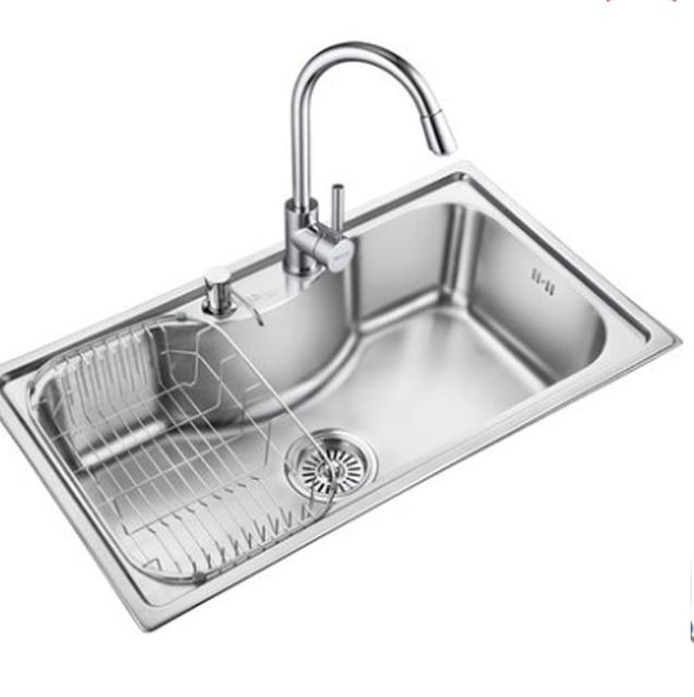 Kitchen Sinks Stainless Steel Vegetables Basin 304 Sink Slot Bundle Single Wash