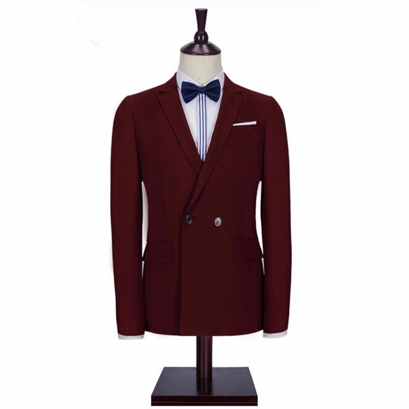 17.1New design men suits jacket double breasted elegant formal business suits jacket high quality custom wedding groom tuxedos jacket