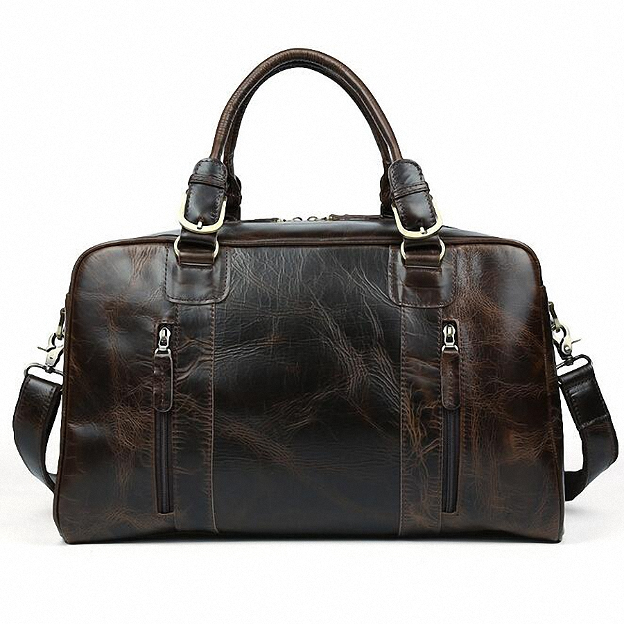 2016 New Men s 100 Genuine font b Leather b font Cowhide High Quality Travel Duffle