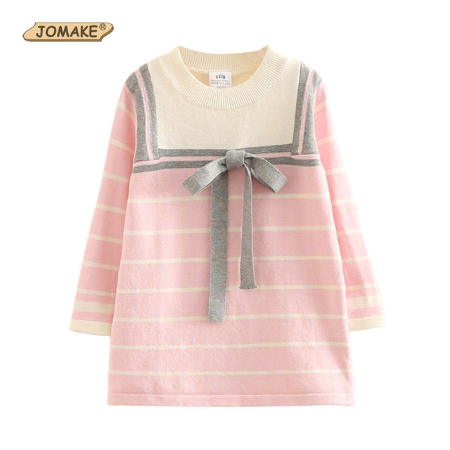 a0953ad7f € 15.31 41% de DESCUENTO Adolescente chicas otoño Vestido de estilo de la  Marina de chica vestido de Jersey de punto a rayas vestidos de niños ...