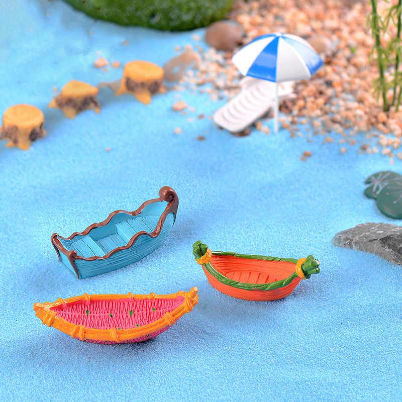 Мечта лодка миниатюрная Статуэтка пиратский корабль DIY аксессуары Кукольное здание украшение дома моделирование пластик игровой дом игрушки