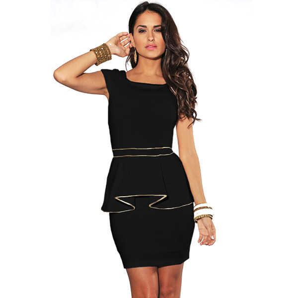 DA17938-1 Free Shipping Hot Sale Black and White Two Colors Free Size Woman New Fashion Elegant Office Dress