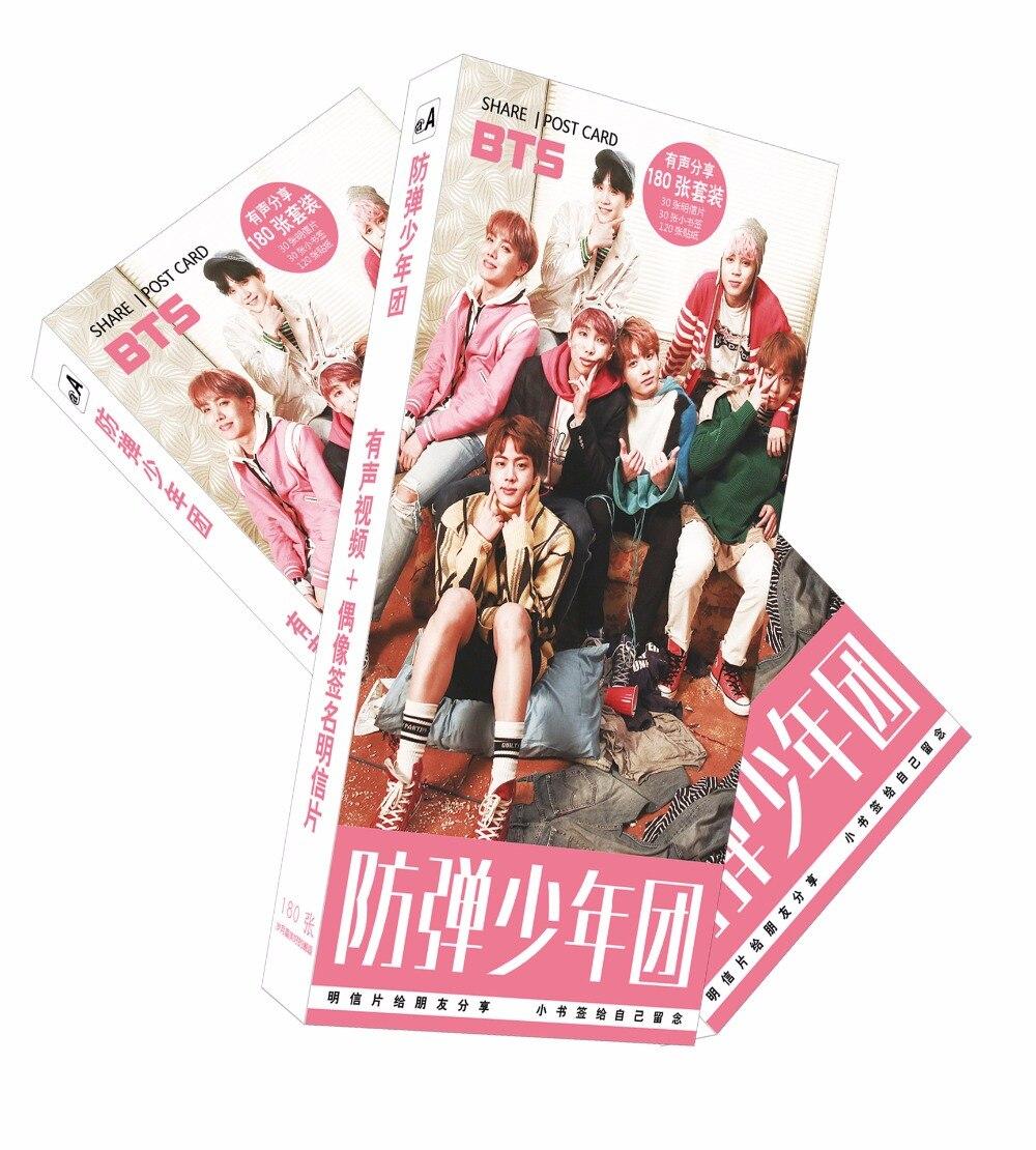 180pcs/set Bangtan Boys Postcard toy BTS Magic Paper Postcard Collection Card toys gifts