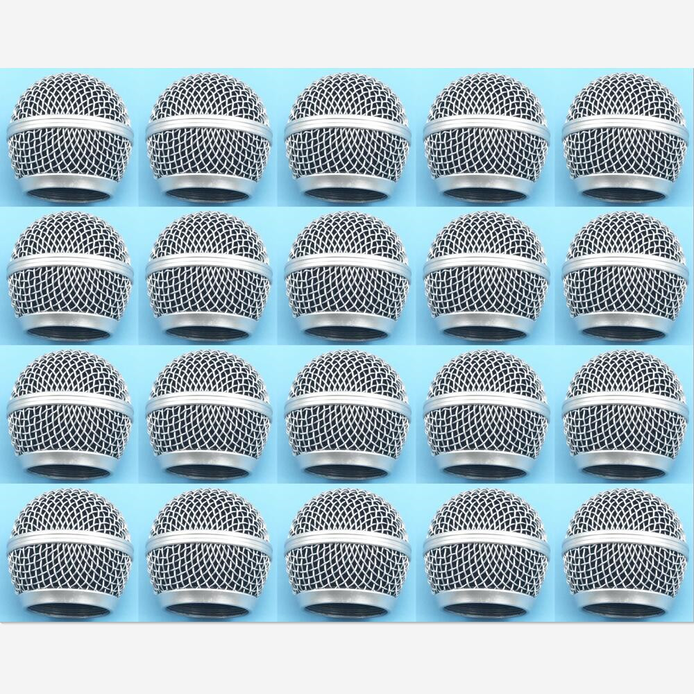 20PCS High Quality Replacement Ball Head Mesh Microphone Grille Accessories for Shure BETA58 BETA58A SM58 SM58S