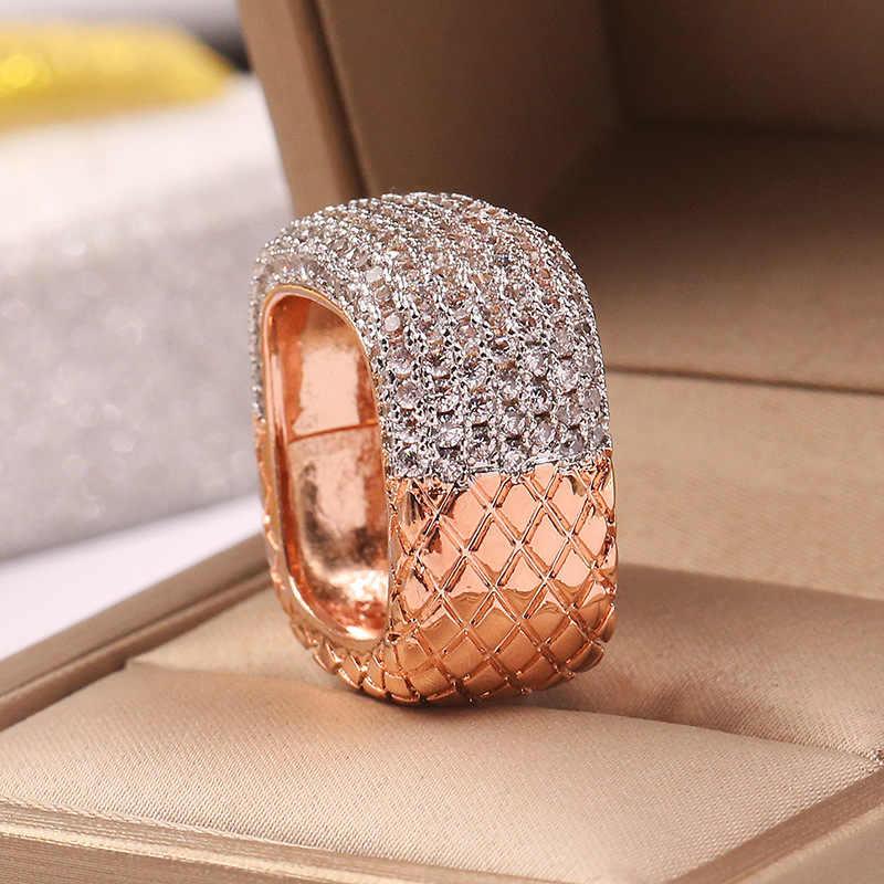 Vecalon VINTAGE แหวน 925 เงินสเตอร์ลิงเครื่องประดับ Pave AAAAA CZ งานแต่งงานแหวนสำหรับเจ้าสาว Bijou
