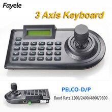 Security 3D 3 Axis PTZ Joystick PTZ Controller Keyboard RS485 PELCO-D/P LCD Display For Analog CCTV Speed Dome Pan Tilt Camera