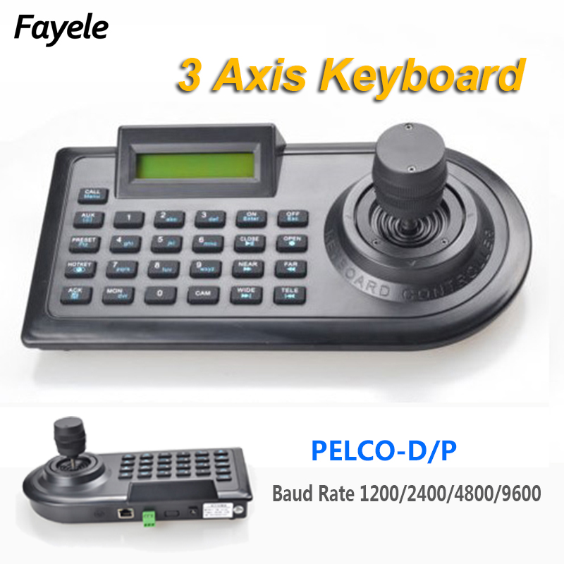 Security 3D 3 Axis PTZ Joystick PTZ Controller Keyboard RS485 PELCO D P LCD Display For