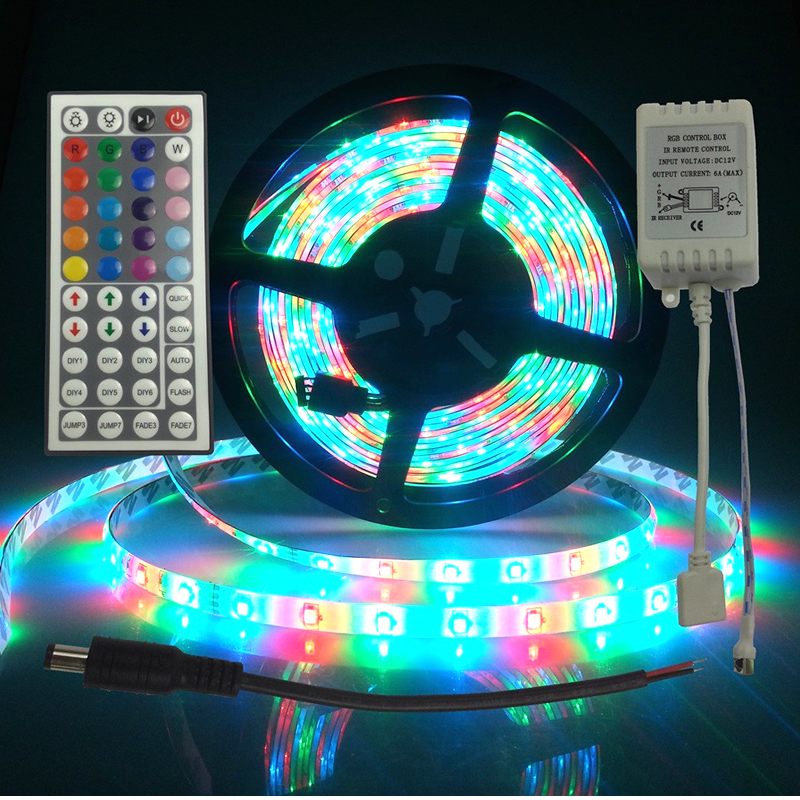 3528 RGB LED Tape Light DC12V 2A IR Remote Control LED