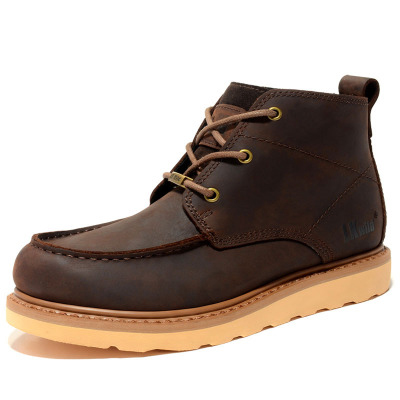 brown 2019 Sapatos De Respirável Ar Ajuda Botas Ferramentas Livre Couro Inglaterra Dos Beige Rendas Alta red Casuais Homens Ao Caminhada Urq0U