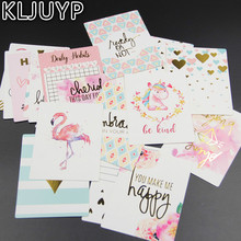 KLJUYP 20Pcs Acid Free Colorful Happy Day Paper Pocket Cards for Scrapbooking DIY Projects/Photo Album/Card Making Crafts(China)