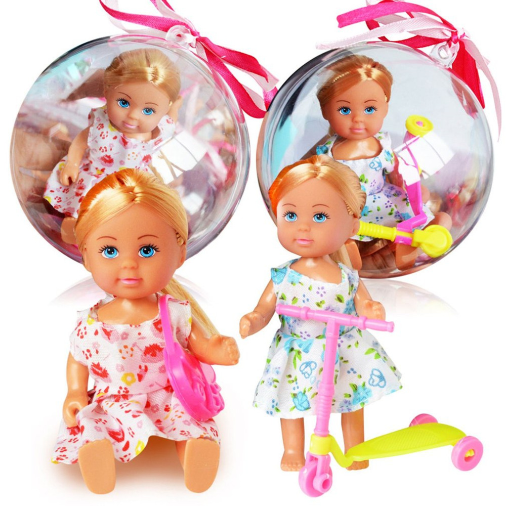 OCDAY 1 pc Magic Clear Ball Doll Baby Toys Lovely Girls Clothes Changing Figure Toys for Kids Girls Birthday Best Gift New Sale