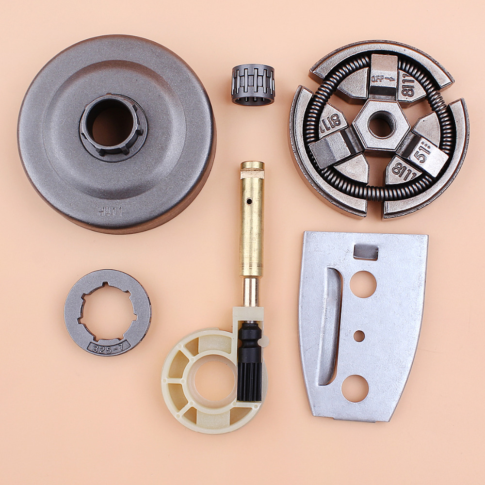 .325 7T Clutch Drum Sprocket Oil Pump (Copper) Bar Plate For HUSQVARNA 55 51 50 Chainsaw Spare Parts 5 11