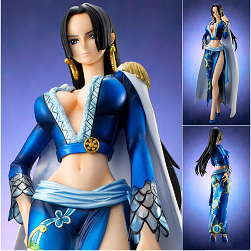 2018 Japanese Anime One Piece Figurine Queen Boa Hancock PVC Sexy Action Figure Collectible Model Doll Toy Gifts RT217 japanese anime one piece boa hancock pop breakage of clothes pvc sexy action figure collectible model doll toy ver 1 8 hzw039