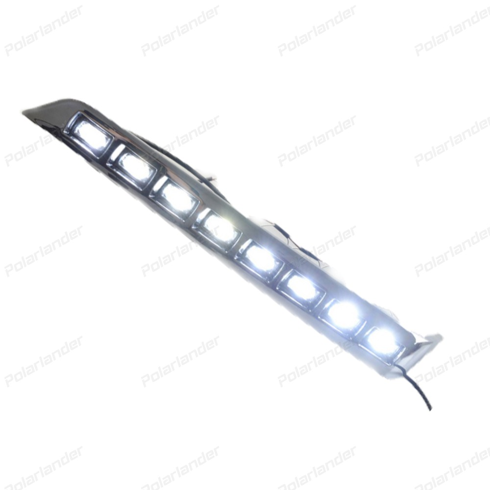 bright Car styling For T/oyota L/ANDCRUISER LED DRL F/J200 LC200 fog cover 2012-2015 led fog lamps daytime running lights