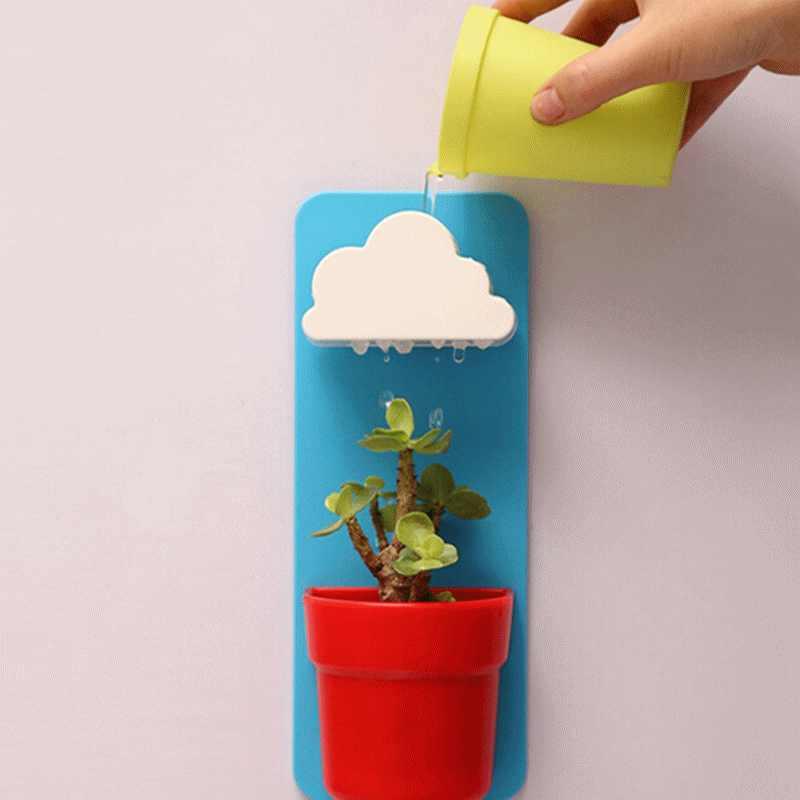 rain clouds flower pot storefyi