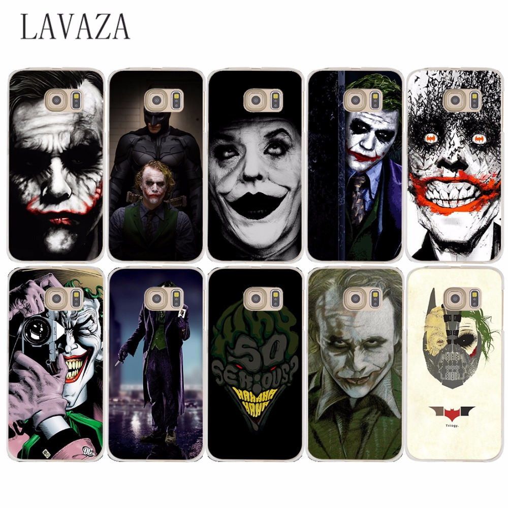 Pics photos batman logo evolution design for samsung galaxy case - 752o Marvel Batman Joker Design Hard Transparent Case Cover For Samsung Galaxy S6 S7 Edge S8
