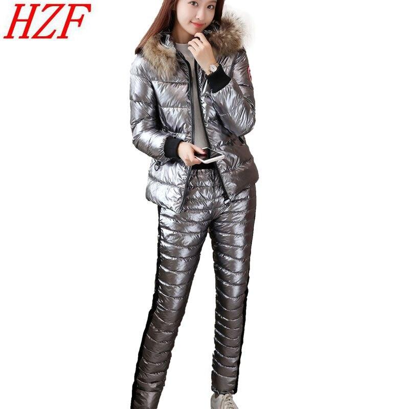 mujer 2018 Chaqueta Real de collar Chándal con fur invierno capucha dCfnwH