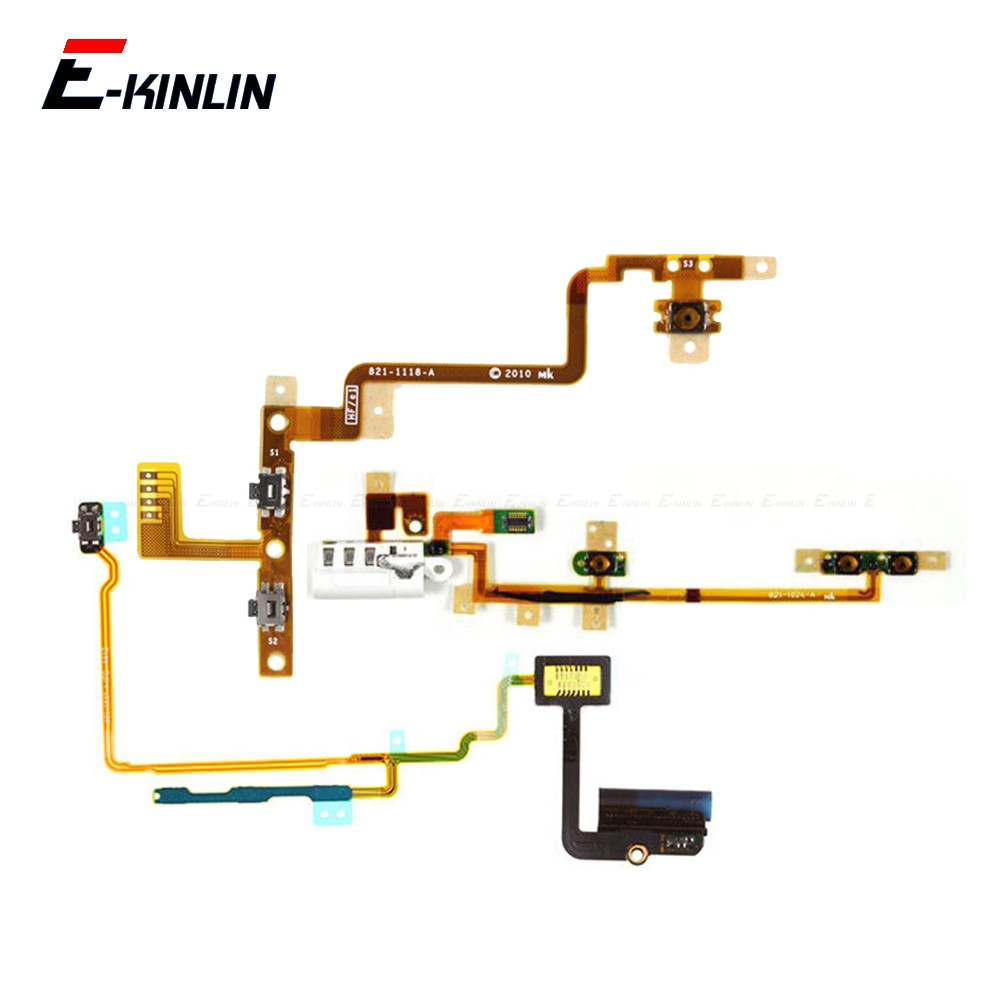 Volume Audio Mute Power Switch ON OFF Button Key Flex Cable For IPod Touch 2 3 4 5 Nano 6 7 Repair Parts