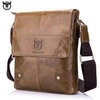 100% Genuine Leather BULLCAPTAIN Men's Messenger bag vintage cow leather shoulder bag for male fashion crossbody bag Handbags Cross Body Bags