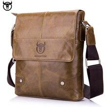 100% جلد طبيعي بولكابشن الرجال حقيبة ساعي حقيبة كتف جلد البقر خمر للذكور موضة حقيبة كروسبودي حقائب اليد