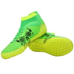 LEOCI Soccer Shoes For Women & Men Indoor High Ankle TF Training Football Soccer Cleats Botas Chuteiras zapatos de futbol