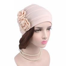 Haimeikang flor nuevas mujeres algodón Bandana bufanda Chemo Hat Beanie  Turbante Headwear para los pacientes con cáncer señoras . e56bd38af20